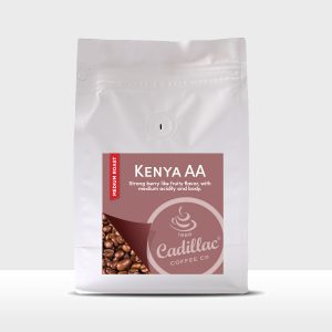 Strong berry like fruity flavor, with medium acidity and body.